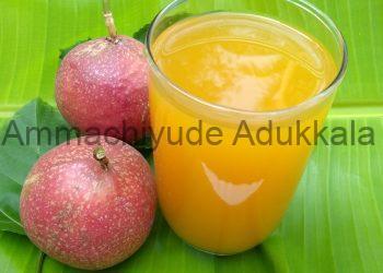 Home Made Red Passion Fruit Squash Recipe